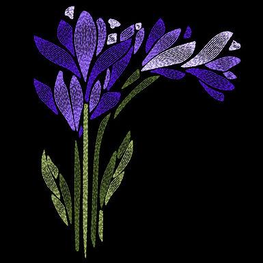 Art Nouveau Flower - Crocus