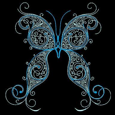 Butterfly Flourish Design 4