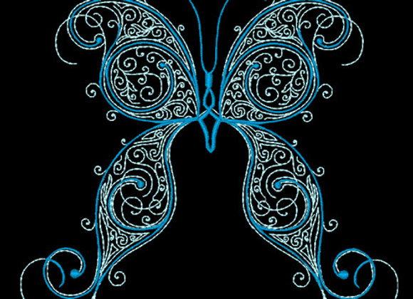Butterfly Flourish Design 4