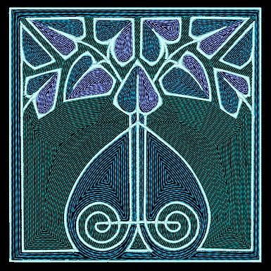 Art Nouveau Tile Design 8