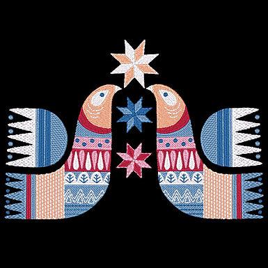 Scandie Christmas Bird 2 Design