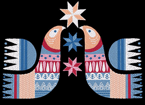 Scandie Christmas Bird 2 Design