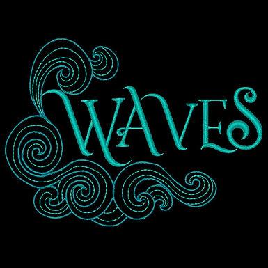 Waves Word Design