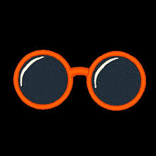 orange Sunglasses Design Image