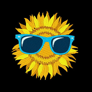 Sunflower with Glasses 1-4x4