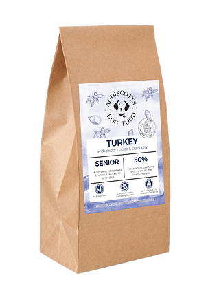 Senior Turkey and Cranberry blended with Sweet Potato