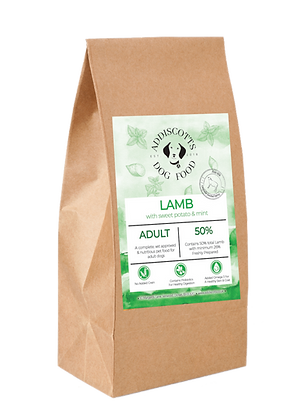 Lamb and Mint blended with Sweet Potato