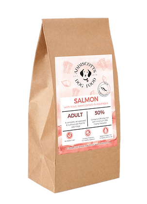 Salmon, Trout & Asparagus blended with Sweet Potato