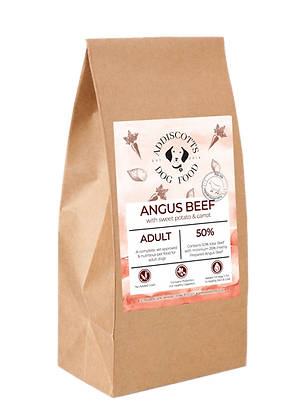 Angus Beef and Carrot blended with Sweet Potato