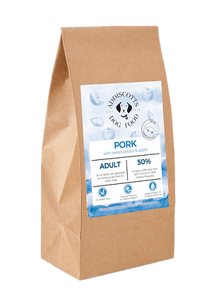 Pork and Apple blended with Sweet Potato
