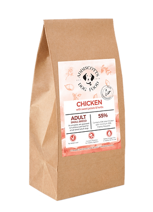 Small Breed Chicken and Herbs blended with Sweet Potato