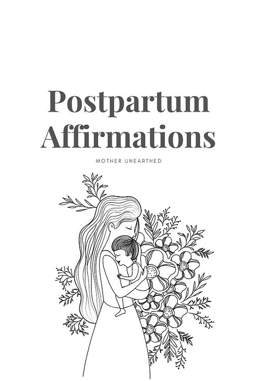 POSTPARTUM AFFIRMATIONS