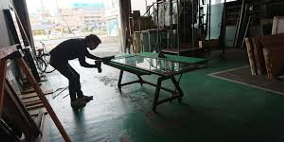 ペアガラスの検査・組立・梱包作業