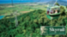 Skyrail cable car over te rainforest