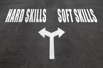 Hard skills vs soft skills choice concep