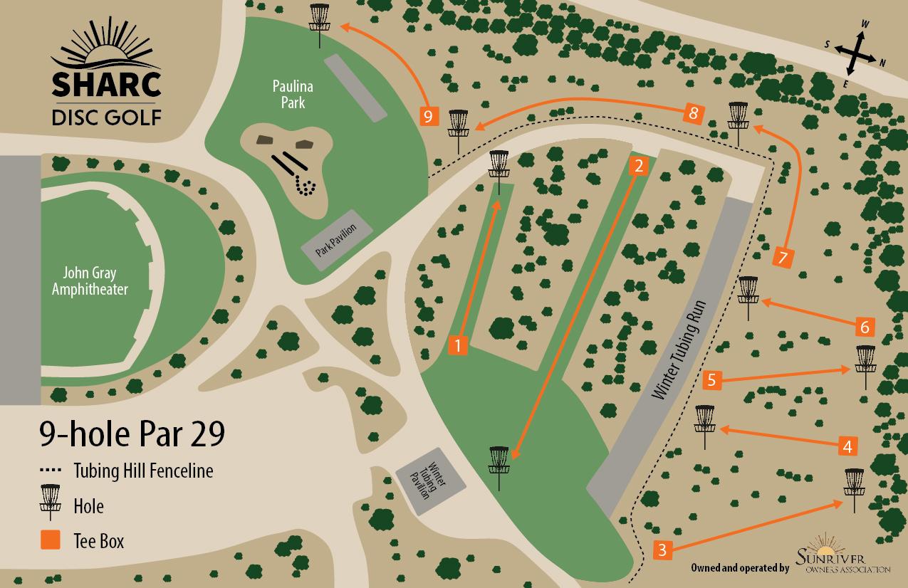 Sunriver SHARC   Disc Golf Course on