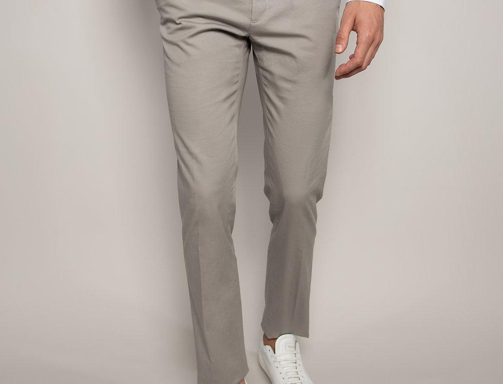 Pantalone Chino Cotone Grigio Perla