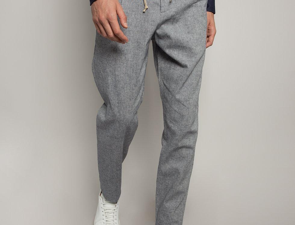 Pantalone Jogging misto Lino Blu
