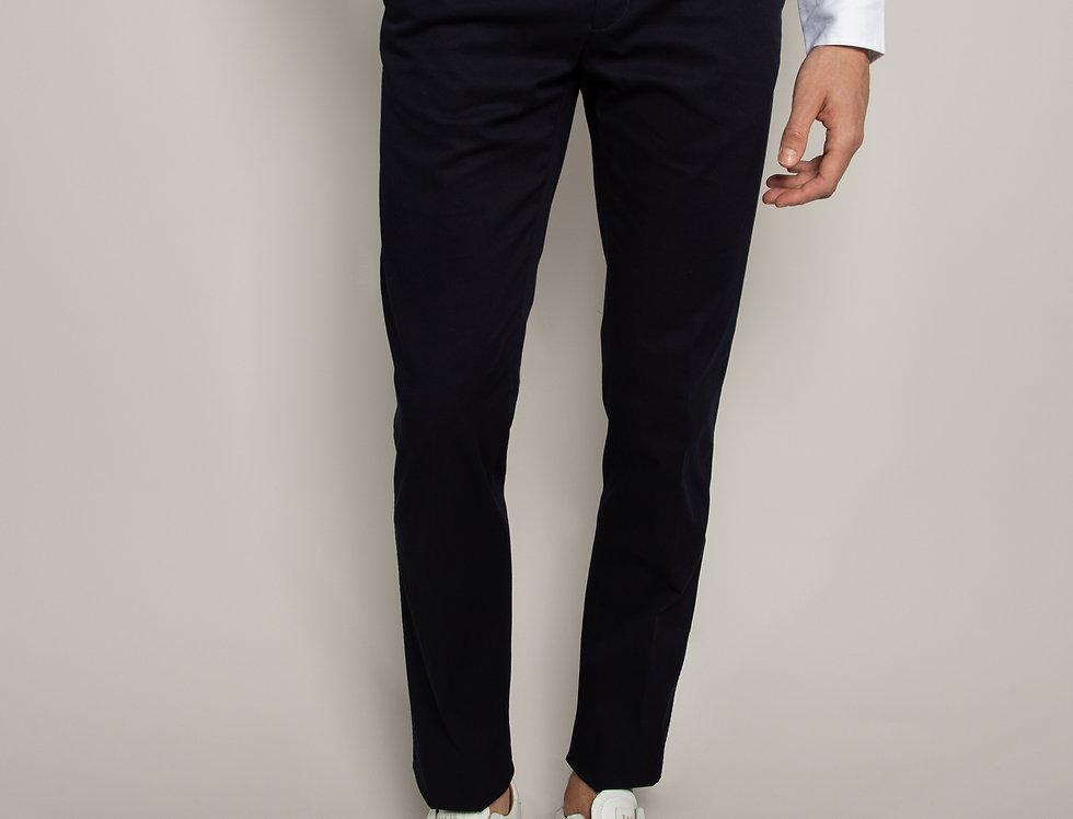 Pantalone Chino Cotone Blu
