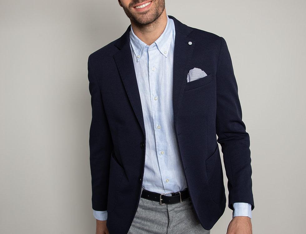 Giacca sportiva in jersey blu