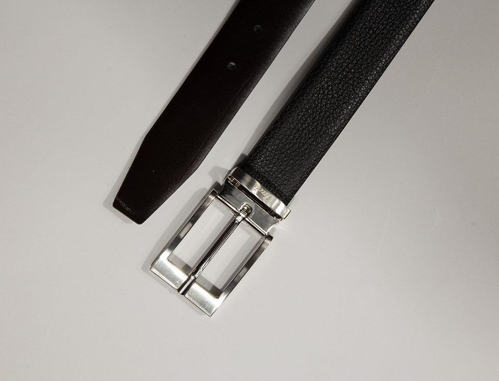 Cintura double face st. dollaro  nero/moro made in Italy