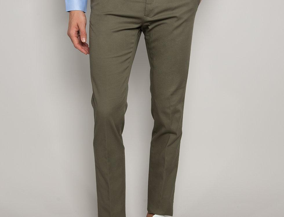 Pantalone Chino Cotone Verde