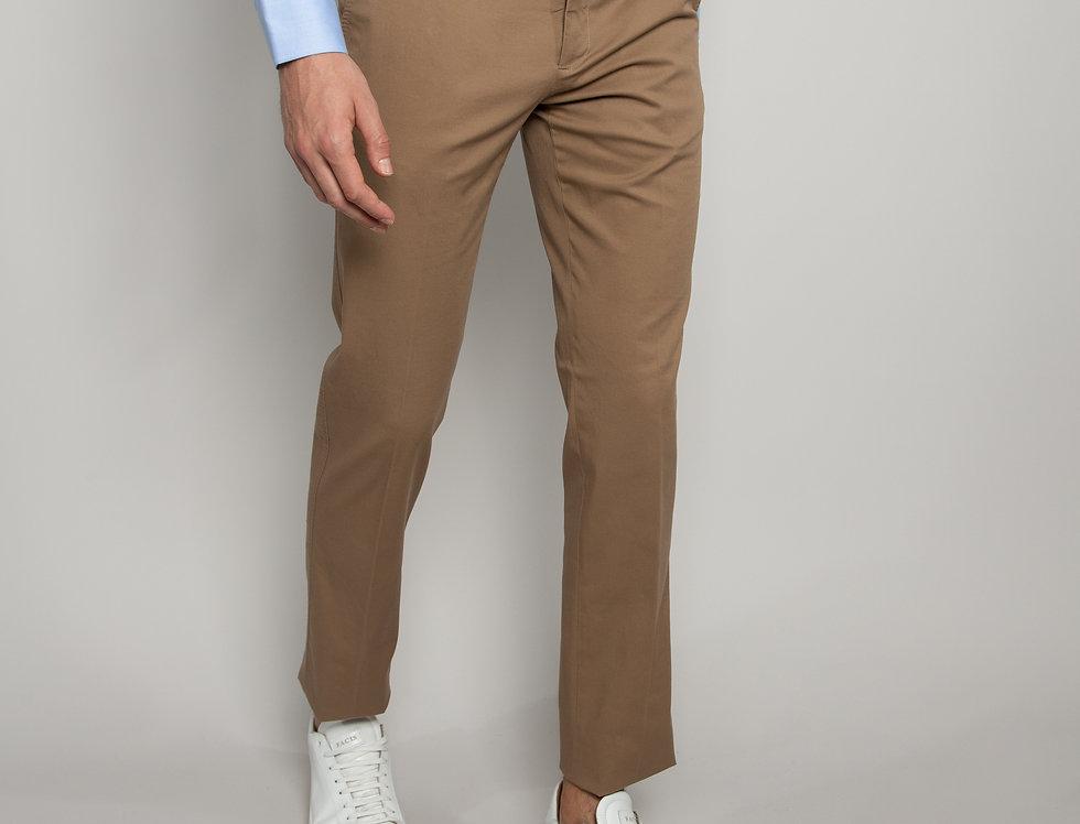 Pantalone Chino Cotone Marrone pastello