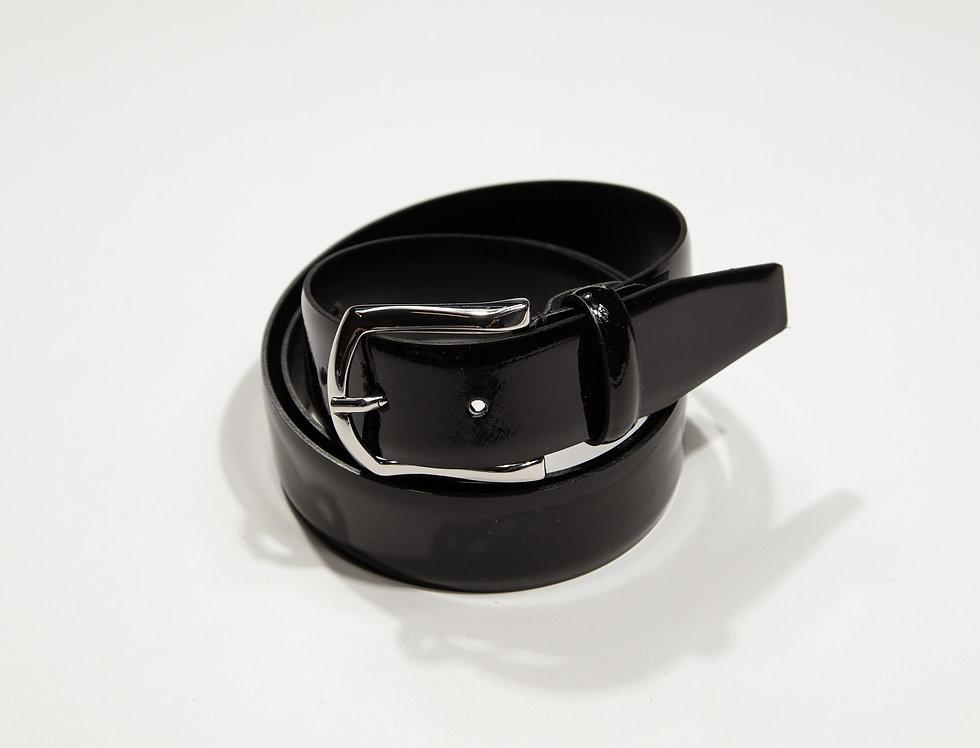 Cintura vernice nero made in Italy