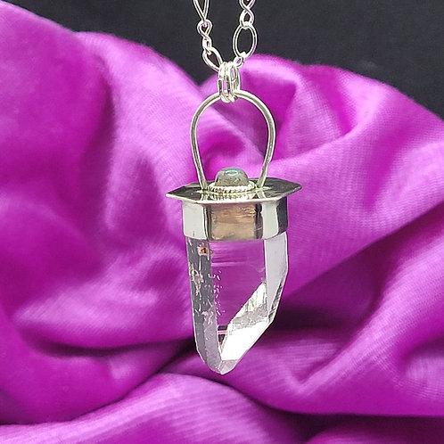 Lemurian quartz and Labradorite pendant