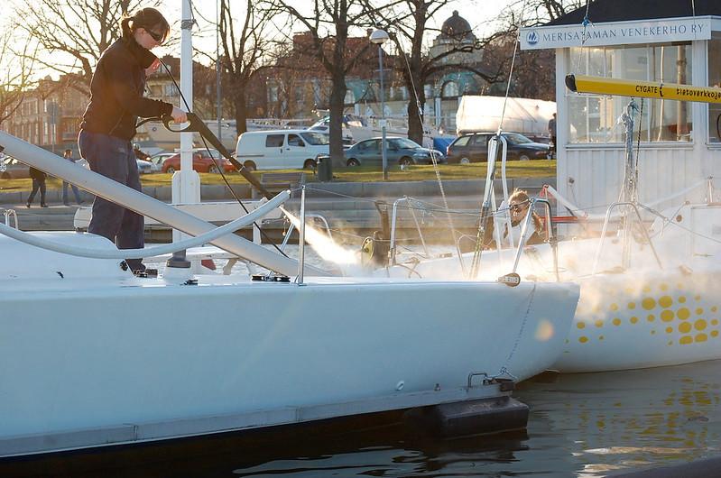 Nettoyage de bateau