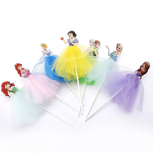 1pcs 21cm Princess Birthday Party Decorations, Cake Toppers, Cake Supplies