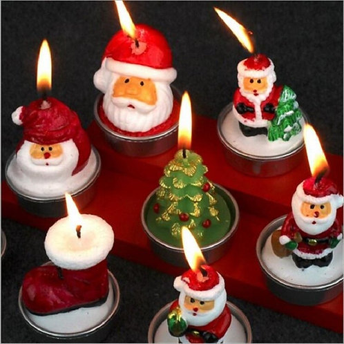 Colorful Christmas Candles