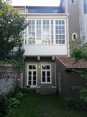 jardim privado - moradia Porto - depois