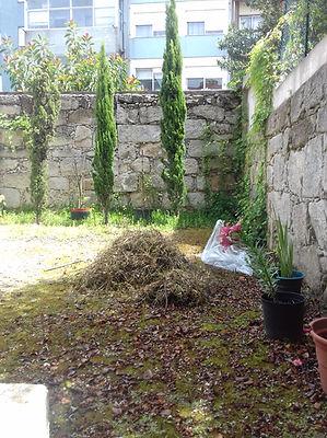 jardim privado - moradia Porto - antes