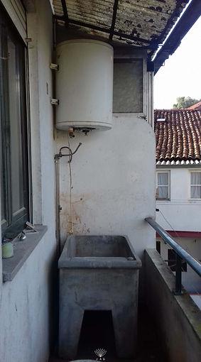 jardim vertical na varanda - antes