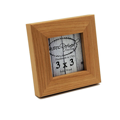 "3x3 1"" Gallery Picture Frame - Solid Natural Alder"