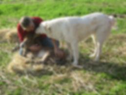 Tessa w me and foal.JPG
