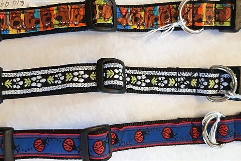 "Dog Collars for the Medium Dog 3/4"" width"