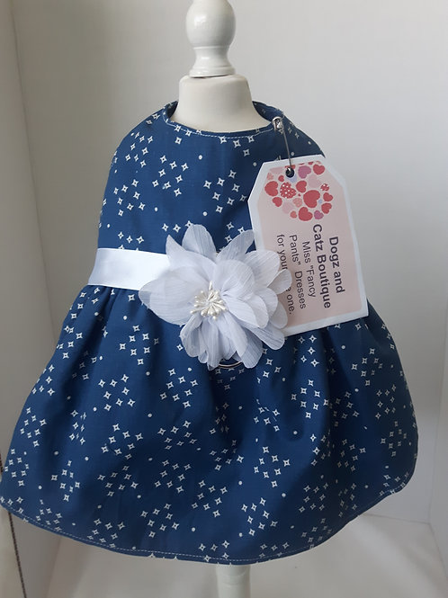 Blue Miss Fancy Pants Dress  Medium