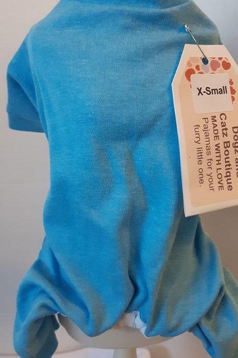 x small Blue Pajama