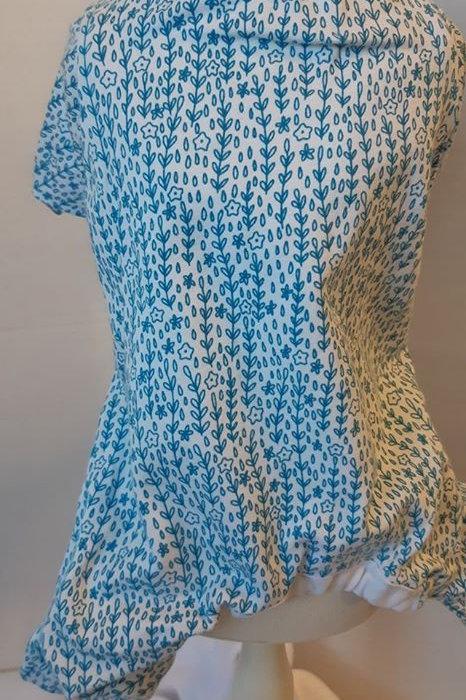 x small Blue Flower Pajama