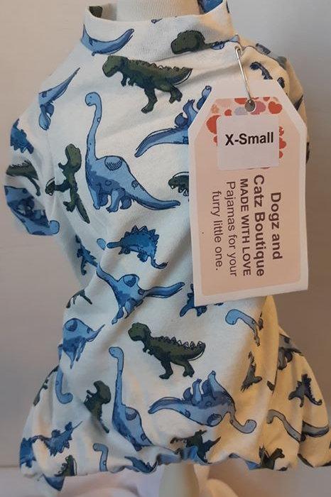 x small Dinosaur Pajamas