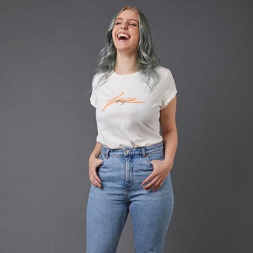 T-Shirt 'Free Hugs' Figurbetont A LIMA