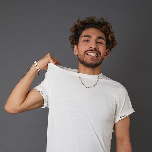 T-Shirt 'Free Hugs' mit Stickdetails