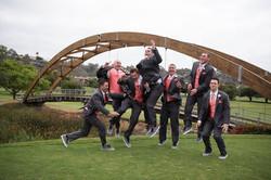groomsmen having too much fun