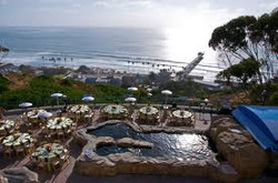 Aerial view of reception in tide pools area