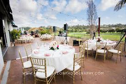 guest tables outsideoverlooking golf course