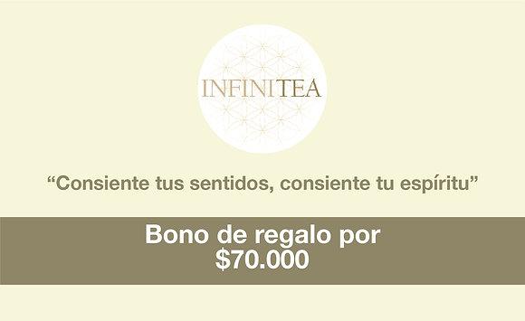 Bono regalo por $70.000