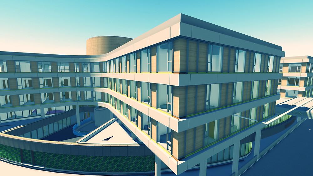Maquette 3D Hôpital Chirec Bruxelles