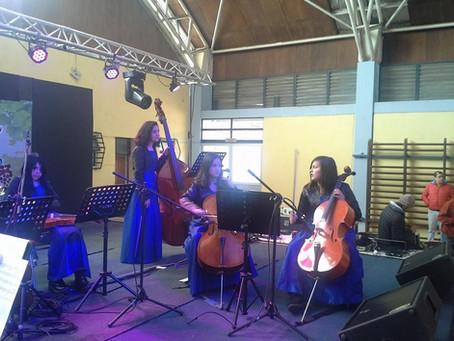 Bella Presentación  de la Orquesta Escolar de Traiguen  en  1era. Fiesta de la Vendimia de la Arauca